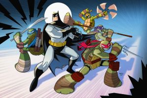 Batman TMNT Animated Crossover by Red-J