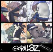 Gorillaz demon days - cd cover by OttPop