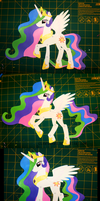 Princess Celestia Paper Puppet by Clawshawt