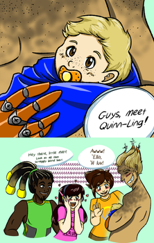 Meet Quinn-Ling - Meihem fan child (MeixJunkrat) by TheGeekySqueaker