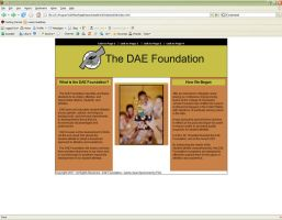 DAE Foundation Front Page by usagisailor