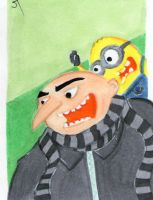 Despicable Me sketch card by johnnyism