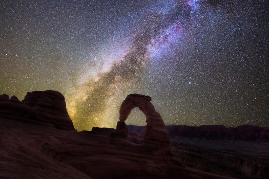 interstellar, Delicate Arch by alierturk