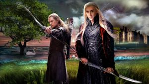 Thranduil and Legolas Wallpaper by Betka