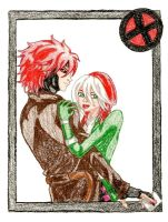 Gambit and Rogue by IsisConstantine
