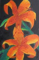 Acrylic Lillies by Shutsumon