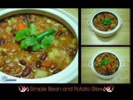 Simple Bean and Potato Stew by myrkymyrk