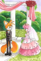 A Tails and Amy Wedding by hopelessromantic721