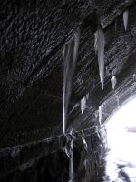 Ice in tunnel 1 by oldsoulmasquer