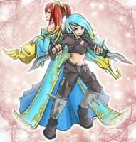 Sona Katarina Harrowing Mash by RinTheYordle