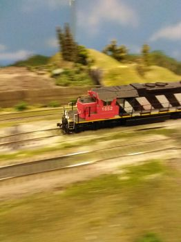 Speeding past the scrap yard by TheBebopPilot