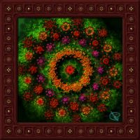 20141111-Flower-Dance-Mandala-v17 by quasihedron