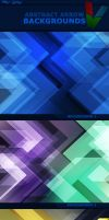 Abstract Arrow Backgrounds by ViktorGjokaj