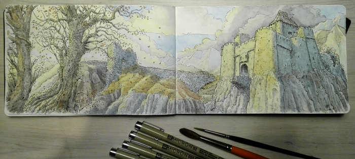 Sketchbook: Abandoned Castle by woutart