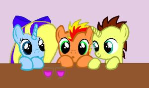 My and Rainbow Bolt's kids :3 by MoonCloudTheBrony
