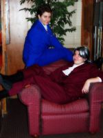 Cosplay: Phoenix and Edgeworth by Verie