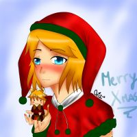 Rin Kagamine Xmas! by OriChes