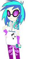 Vinyl Scratch - Equestria Girl 2 Rainbow Rocks by negasun