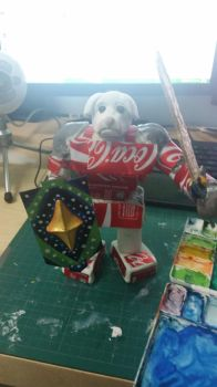 Cola Dog Sculpture by die22342