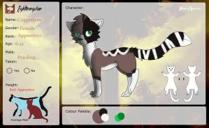 Copperpaw Application Sheet UPDATED by TricksterDoesArt