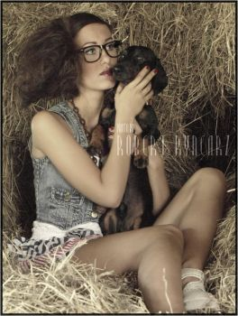 The Lady With A Little Dog. by robert-er