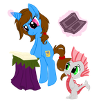 Pixel and Vance by Sonyie