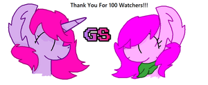 Thank You For 100 Watchers!! by GamingStarLuigiSin