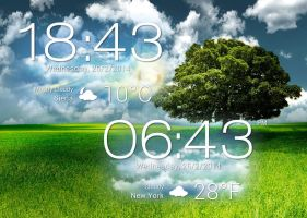 Asus Padfone 2 Clock Weather HD for xwidget by jimking