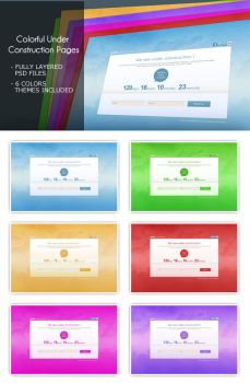 Colorful and Simple Under Construction Pages by jelloul
