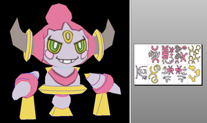 hoopa papercraft by javierini