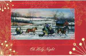 Hartly Farm Christmas Card by Wulff-Arts