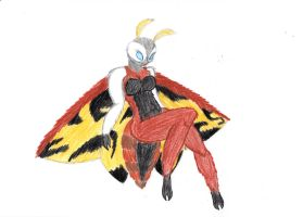 Mothra as an anthro. by randomcatgirl