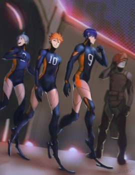 Synthetic volleyball players by DaryaBler