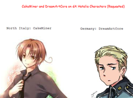CakeMiner and DreamArtCore on Hetalia by 1T1S1T
