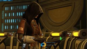 SWTOR Screenshot Holo-Talk In My Ship #3 by TheFlyingHeart