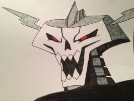 Head of Skeleton King by The-Angel-D