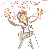 It's Check-Out time! by FuPoo