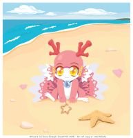 Drawing in the sand by luna777
