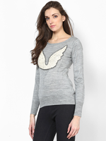 Sweater with Sequin Wings by Femella-Clothings