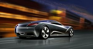 super car proposal rear view by carlexdesign