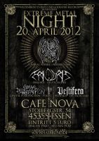 Extreme Metal Night Flyer by halb-blind