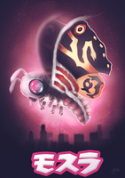 Mothra - Godzilla Collab by michelle-miranda
