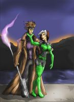 GAMBIT AND ROGUE by Sabrerine911