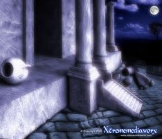 Xtrememediaworx night Ruins by xtrememediaworx