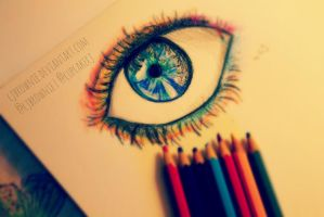 Pencil eye sketch by cjbrownie