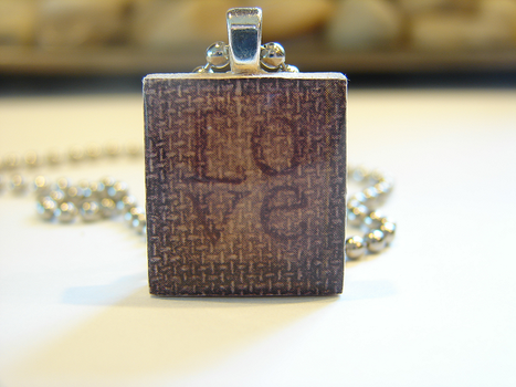 Love Scrabble Tile Pendant by PastryStitches