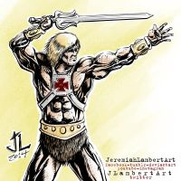 HeMan - Aug 5 2014 Art Jam. by JeremiahLambertArt