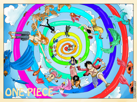One Piece : Spiral Rainbow by JERRYABISTADO