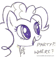 Pinkie Pie: PARTY?! Where? by kemono666