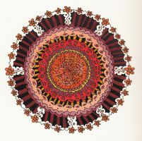 the odd color mandala by crazyruthie